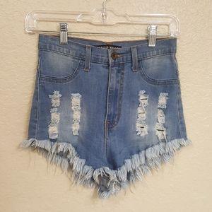 Fashion Nova high rise Aphrodite shorts